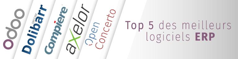 top 5 logiciels ERP